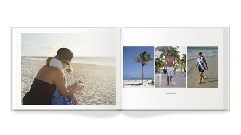 9x7 travel photo book 9x7 photos on the beach